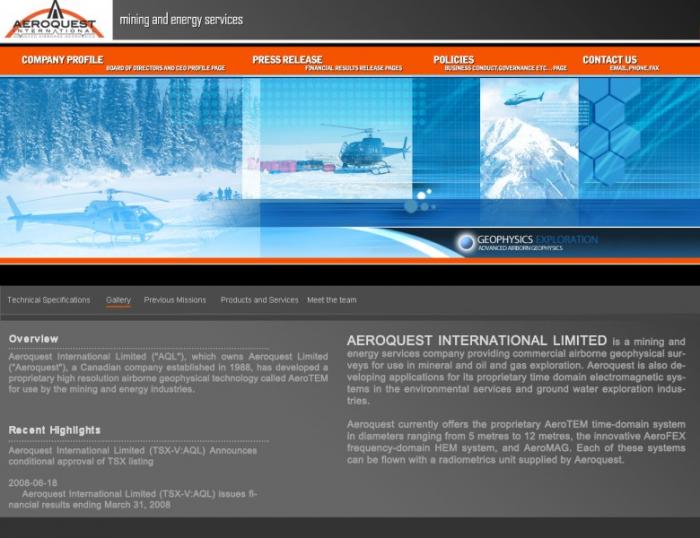 Aeroquest Site Template