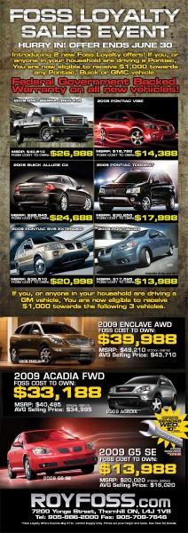 Pontiac Sale Print Ad